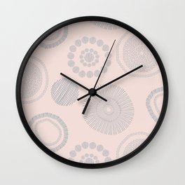 Gray flowers Wall Clock