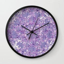 A Taste of Lilac Wine Wall Clock
