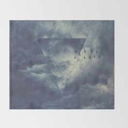sky forms Throw Blanket