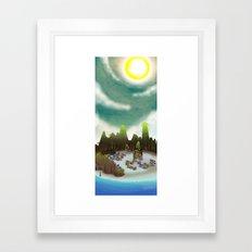 PEACEFUL LIVING Framed Art Print