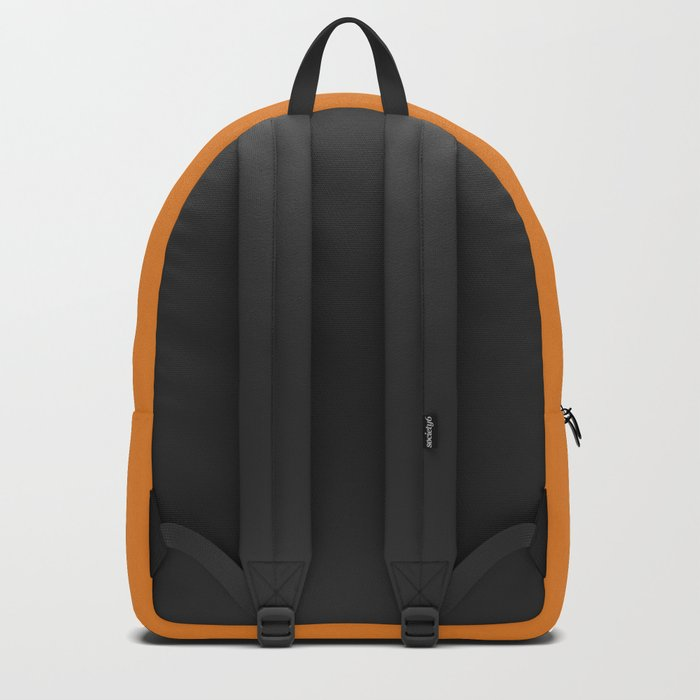 Ombre orange and white swirls doodles Backpack