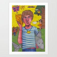 When My Boy Walks Down the Street Art Print