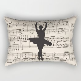 ballerina art, music Notes , girls nursery art, ballerina décor , girls nursery art , Rectangular Pillow