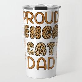 Proud Bengal Cat Dad Travel Mug