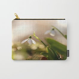 You And I Two Snowdrop Flowers #decor #society6 Carry-All Pouch