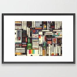 Cassettes, VHS & Games Framed Art Print