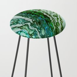 Green blue rivers Counter Stool