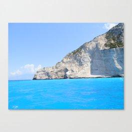 Ship Wreck Beach, Zakynthos, Greece Canvas Print