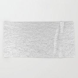 Snow Texture // Snowy Powder Close up Winter Field Ski Vibes Landscape Photography Beach Towel