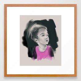 B on canvas Framed Art Print