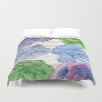 succulents Duvet Covers featuring Succulents by Kate Havekost Fine Art