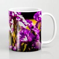 iris Mugs featuring Iris by Faded  Photos