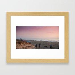 Beach in Hossegor, France, 2013 Framed Art Print