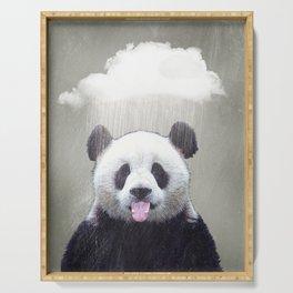 Panda Rain Serving Tray