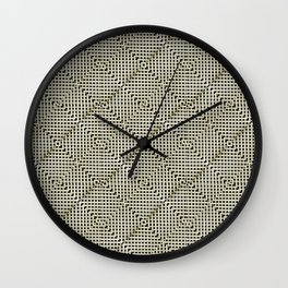 Geometric Background Pattern Wall Clock