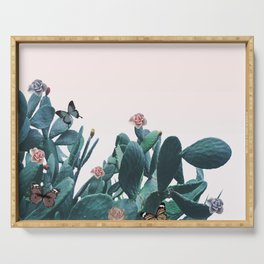 Cactus & Flowers - Follow your butterflies Serving Tray