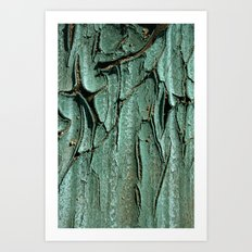 Green Rubber Art Print