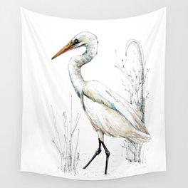 Mr Kotuku , New Zealand White Heron Wall Tapestry