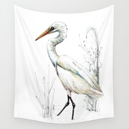Mr Kotuku , New Zealand White Heron Wall Tapestry