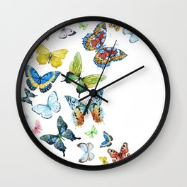 Butterflies 03 Wall Clock