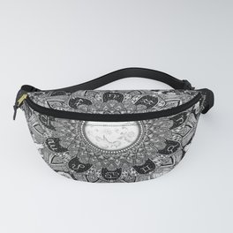 Zodiac Signs Mandala with Starry Background Fanny Pack