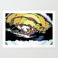 The most epic explosion on the city Art Print
