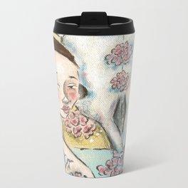 Bones and Blooms I Metal Travel Mug