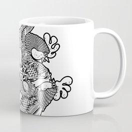 Rooster BW Coffee Mug