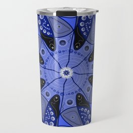 Blue Kaleidoscope Travel Mug