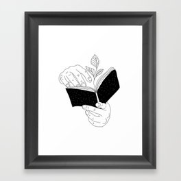 when you read inside the germinate flowers Framed Art Print