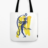 archer Tote Bags featuring The Archer by coconuttowers