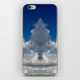 Mirror image sky panorama iPhone Skin