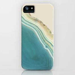 Geode Turquoise + Cream iPhone Case