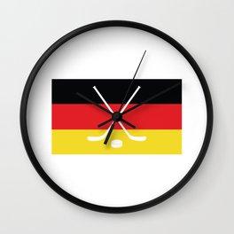 Hokey icon Germany Flag Wall Clock