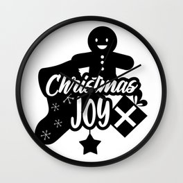 Christmas Joy Gingerbread Wall Clock