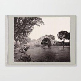 Arch Bridge in Summer Palace, Beijing, anonymous, c. 1895 - c. 1915 Canvas Print