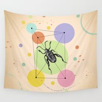 bug Wall Tapestries featuring bug by mark ashkenazi