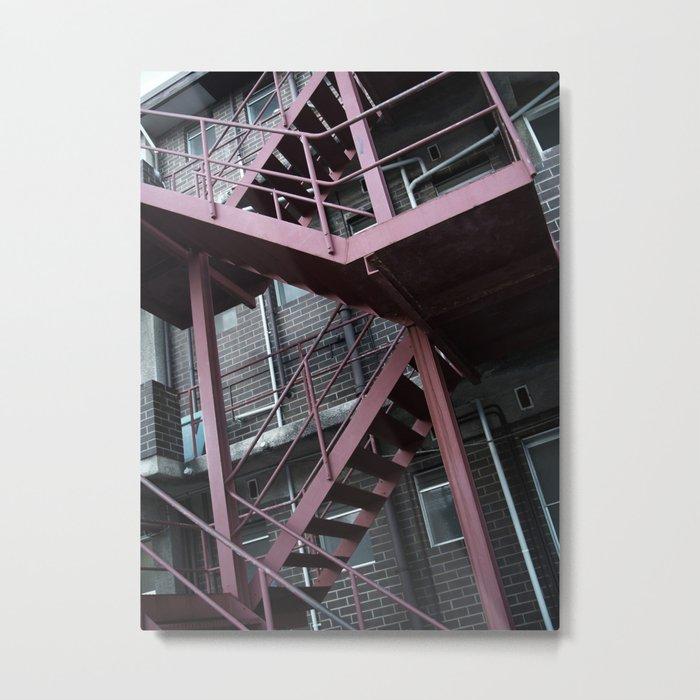 Steel Stairway Metal Print