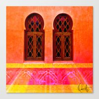 morocco Canvas Prints featuring Morocco  by Xchange Art Studio