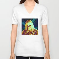 chewbacca V-neck T-shirts featuring Chewbacca by victorygarlic