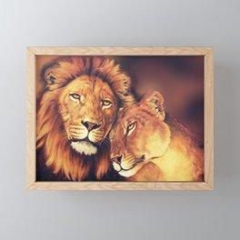Lions Soulmates Framed Mini Art Print