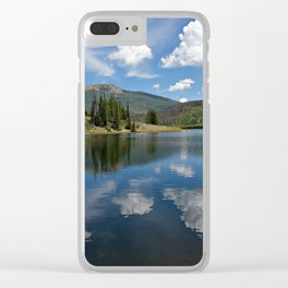 Pearl Lake Blue Water Clear iPhone Case