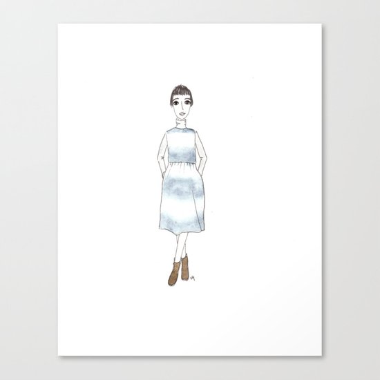 girl in a dress Canvas Print