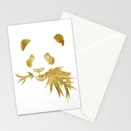 Panda Bear & Bamboo - Gold Stationery Cards