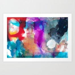 Clockwise white 2 Art Print
