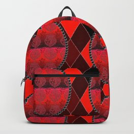 Fleur De Lis Holiday Pattern FDL Red Backpack