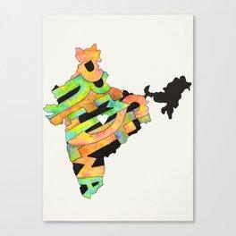 Prem Sewa Indian Outline by Carli Canvas Print