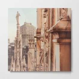 Milan photography, Duomo di Milano, Milan Cathedral, Torre Velasca, architecture photo, skyscraper Metal Print