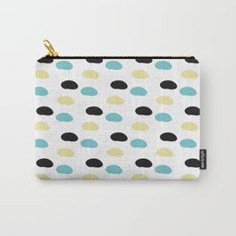 Blue and yellow polka dots Carry-All Pouch