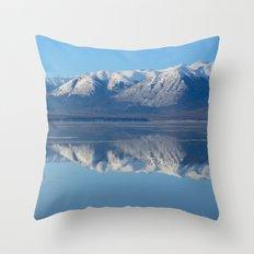Turnagain Arm Mirror - Alaska Throw Pillow